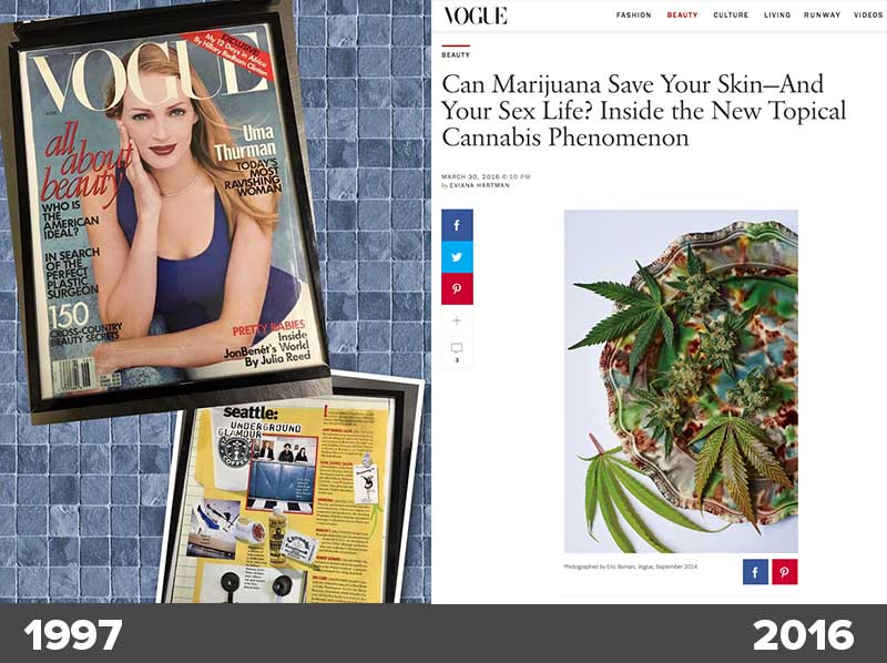 Cannabis Bascis Back in Vogue. First in Vogue magazine in 1997 and back again in 2016!